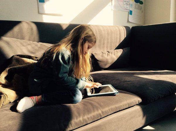 Girl with iPad.