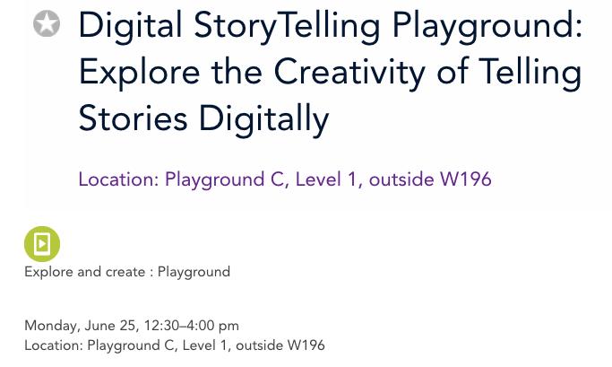 Digital StoryTelling Playground: Explore the Creativity of Telling Stories Digitally