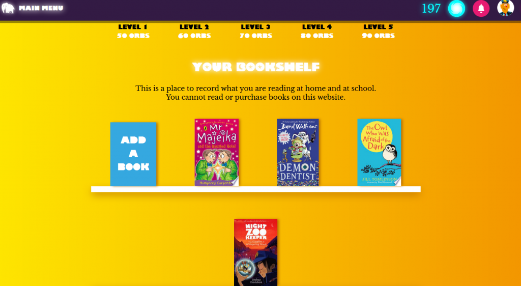 Your bookshelf.