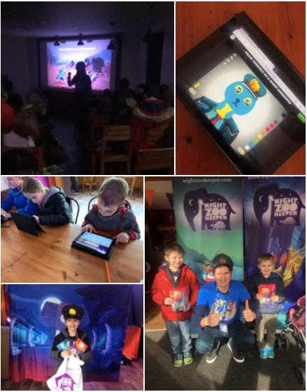 Collage of Chessington photos.